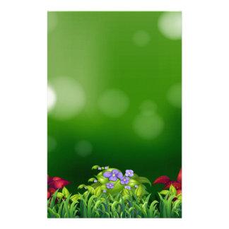 Green grass custom stationery