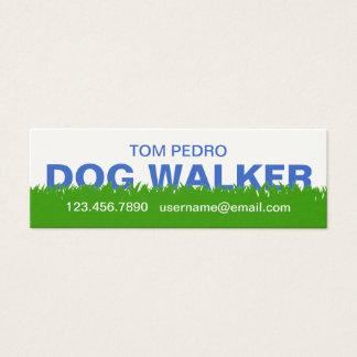 Green Grass Dog Walker Business Card Template