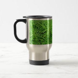 Green Grass Fireworks; No Text Stainless Steel Travel Mug