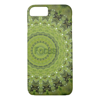 Green grass mandala with focus iPhone 7 case