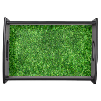 Green grass pattern serving tray