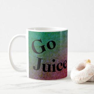 Green grass red Go Juice funny coffee mug