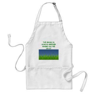 green grass standard apron