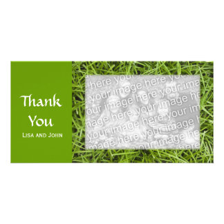 Green Grass Thank You Photo Cards