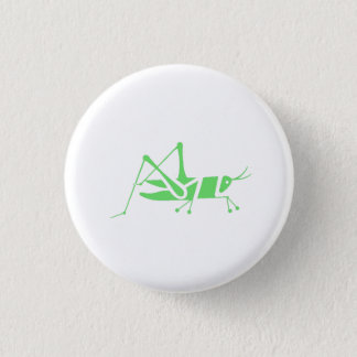 Green Grasshopper 3 Cm Round Badge