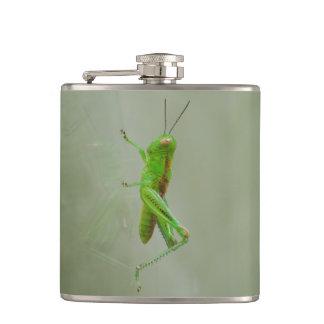 Green Grasshopper Hip Flask
