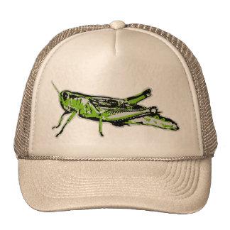 Green Grasshopper Retro Graphic Cap
