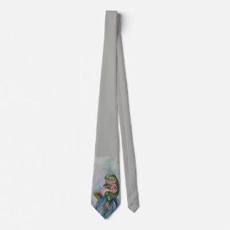 Green Gray Frog Tie