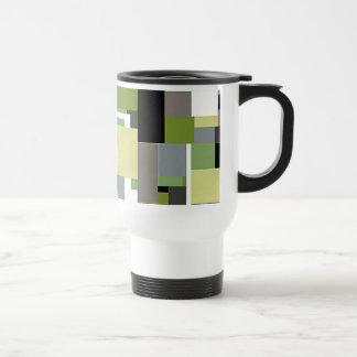 Green & Gray Geometric Design Mug