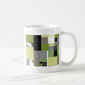 Green & Gray Geometric Design Coffee Mugs