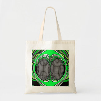 Green gray superfly design canvas bags