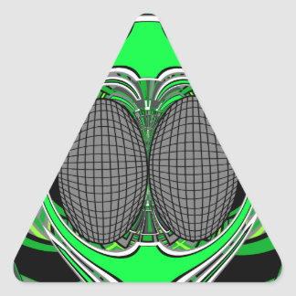 Green gray superfly design stickers