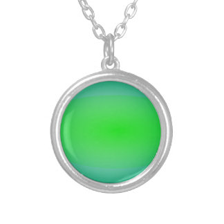 Green Green Abstract Painting Pendant
