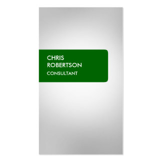 Green Grey Attractive Business Card