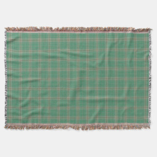 Green Grey Black Tartan Plaid Throw Blanket