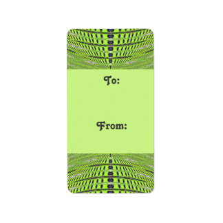 Green grey Gift tags Address Label