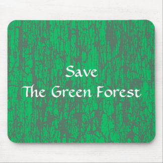 Green & Grey Mouse Pad