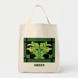 Green Grocery Tote Bag
