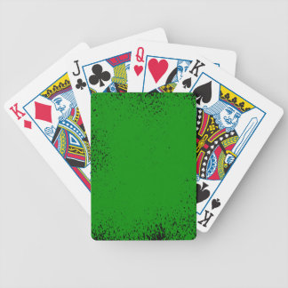 Green Grunge Background Bicycle Playing Cards