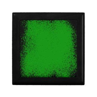 Green Grunge Background Gift Box