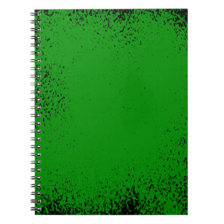 Green Grunge Background Notebook