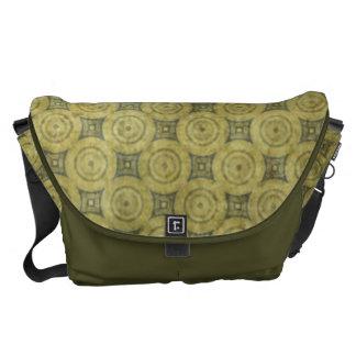 Green Grunge Circle Pattern Courier Bag