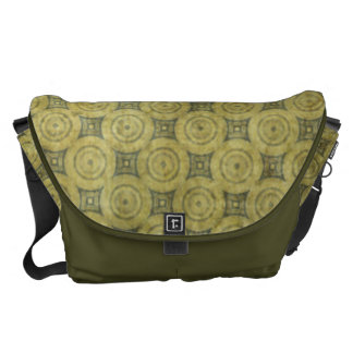 Green Grunge Circle Pattern Courier Bags