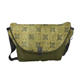Green Grunge Circle Pattern Commuter Bag
