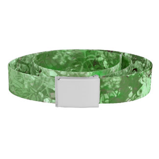 Green Grunge Collage Belt
