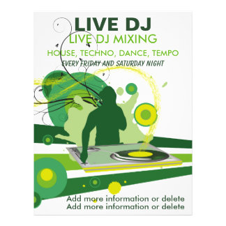 Green Grunge Live DJ Flyer