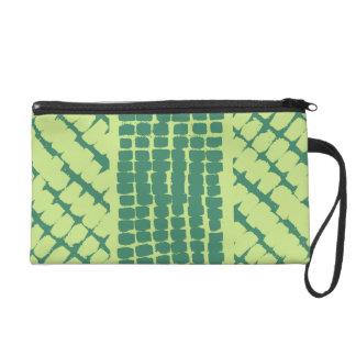 Green Grunge Stamped Pattern Wristlets