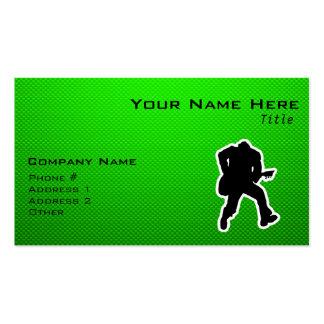 Green Guitarist Business Card
