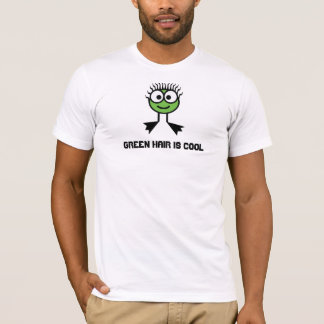 Green hair is cool - Green Swim Character T-Shirt