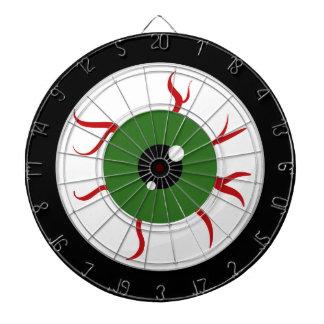 Green Halloween Eyeball Dartboard