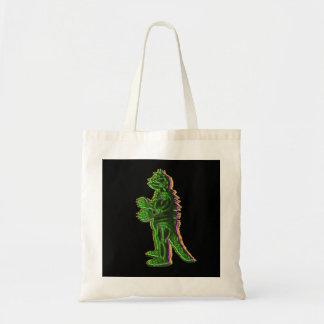 Green Halloween Monster Tshirt Budget Tote Bag