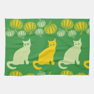Green Halloween Tea Towel