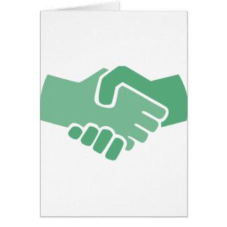 Green Handshake Card
