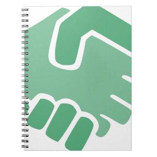 Green Handshake Notebook