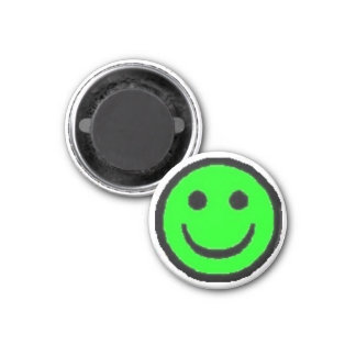 Green Happy Face Magnet