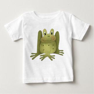 Green Happy Frog Illustration Tees
