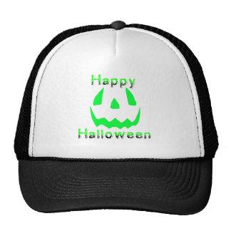 Green Happy Halloween Mesh Hats