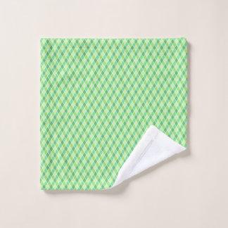 Green Harlequin Wash Cloth