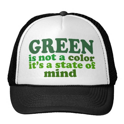 Green Mesh Hats