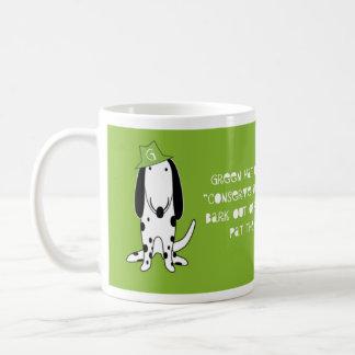 Green Hat Dog mug