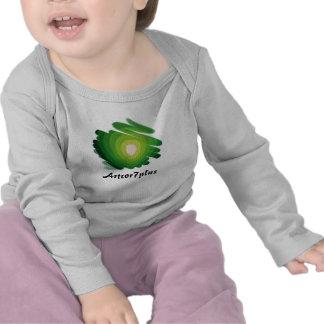 Green Heart Art Spirals Infant Long Sleeve TShirt