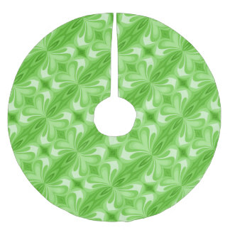 Green Heart Butterfly Abstract Brushed Polyester Tree Skirt