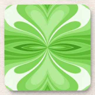 Green Heart Butterfly Abstract Coaster