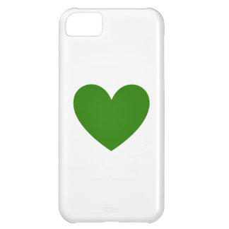 Green Heart iPhone 5C Covers
