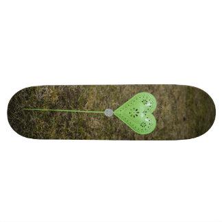 Green heart decoration skate decks