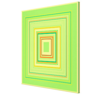 Green Heart Decorative Colour Pattern, medium Canvas Print